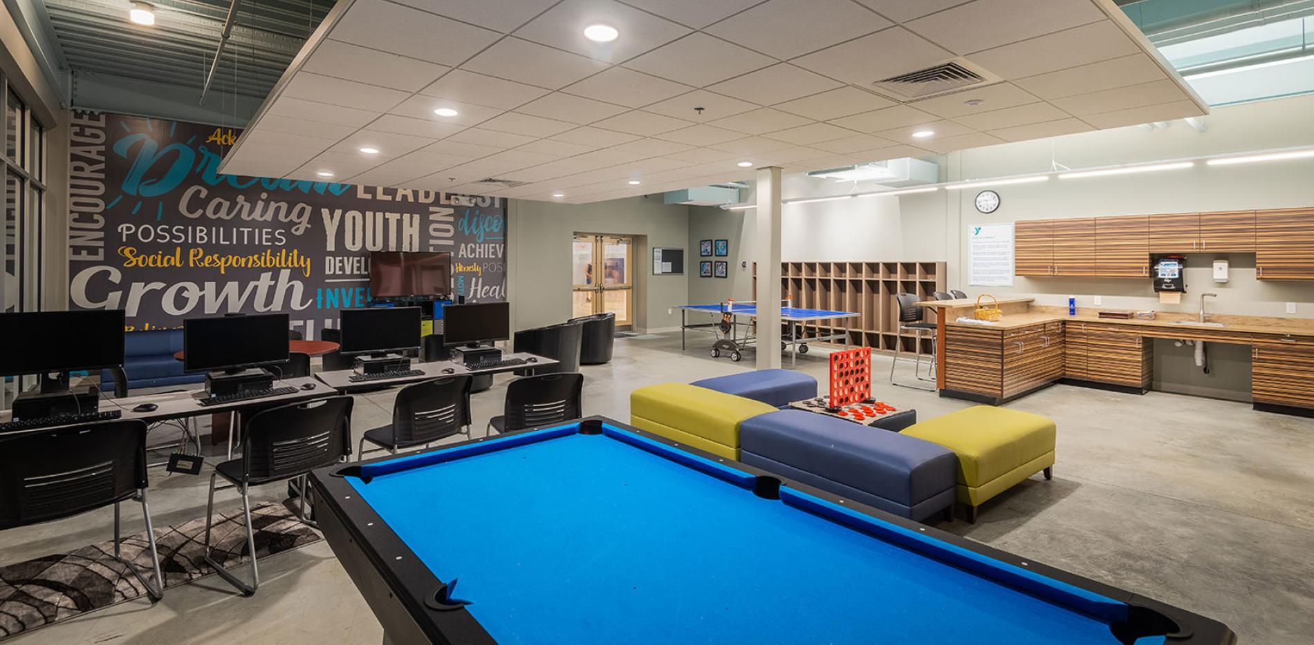 Ocean Community YMCA game room
